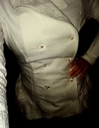 MOJE WYKONANIE płaszczyk z sukienkowym dołem