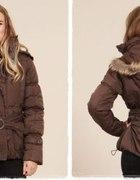 Ciepła kurtka puchowa zimowa kaptur XL 42...
