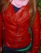 czerwona ramoneska