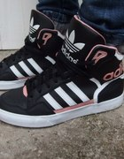 adidas czarno różowe za kostkę nowe