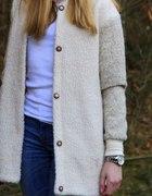 Wełniany płaszcz Pull&Bear