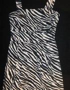 Sukienka zebra pin up rockabilly S