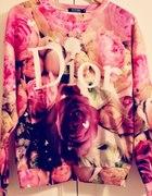 ROMWE dior bluza róże S M L