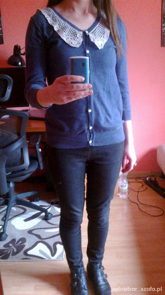 Mój styl sweterek z koronka