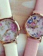 zegarek z kwiatową tarczą
