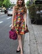 Sukienka H&M Trend floral kwiaty