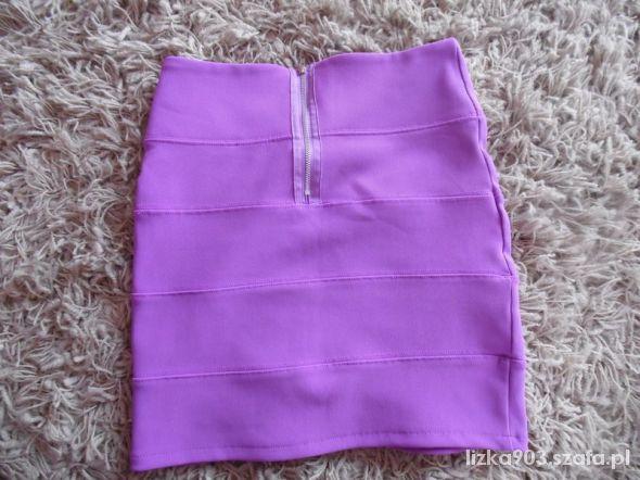 Spódnice Bandażowa liliowa spódniczka Topshop M
