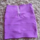 Bandażowa liliowa spódniczka Topshop M
