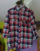 Koszula w kratę flanela zipp