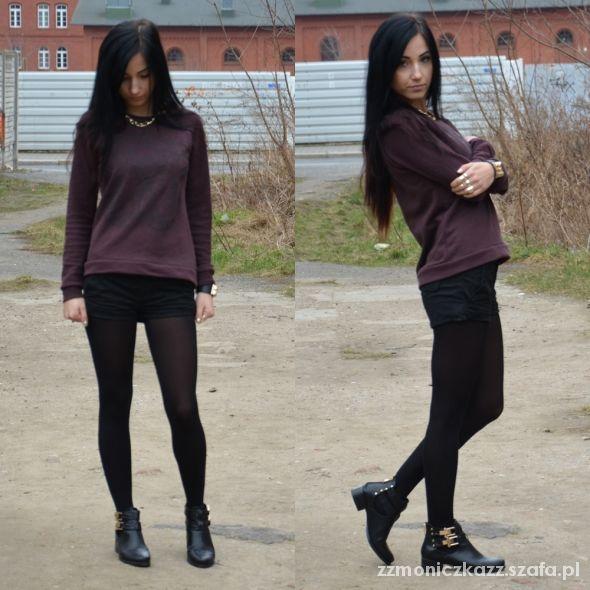 Blogerek maroon blouse