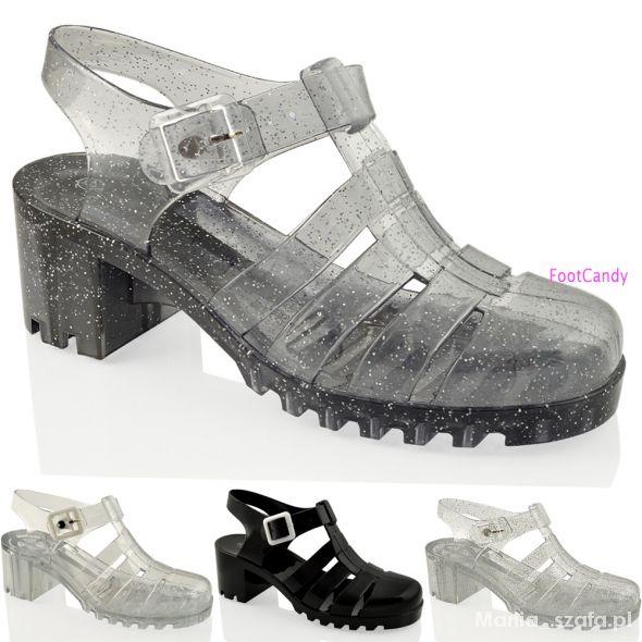 jelly shoes żelowe sandały...