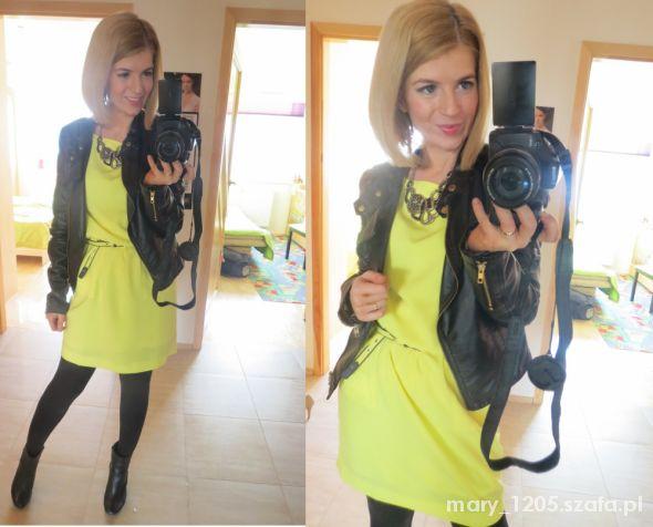 kilka moich pomysłów na neonową sukienkę