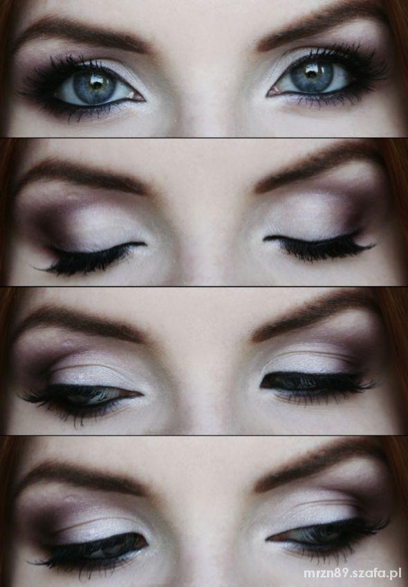 śliwkowy makijaż