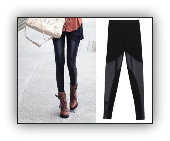 Legginsy spodnie skórzane