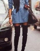 Wygodna dżinsowa sukienka...