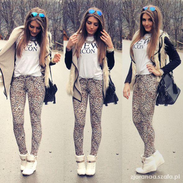 Blogerek leopard pants