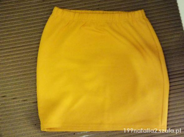 Spódnice spódniczka musztardowa