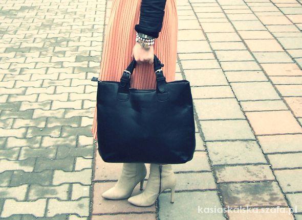 czarny shopper bag