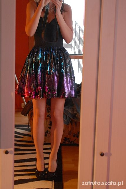 Wieczorowe OMBRE SEQUIN SKIRT DRESS