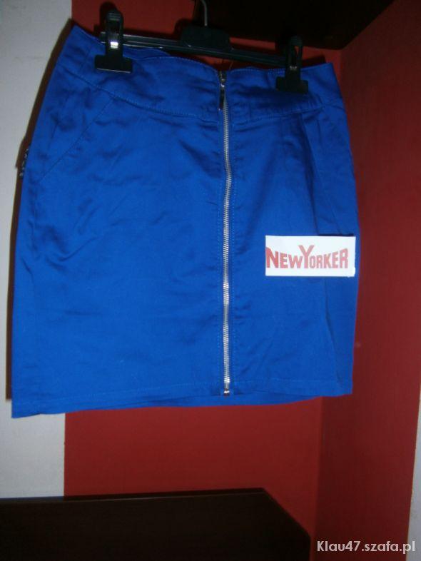 Spódnice Chabrowa spódniczka zip New Yorker S