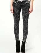Spodnie czarne marmurki jeans 34 lub 36