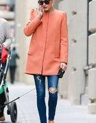 Zara coral coat