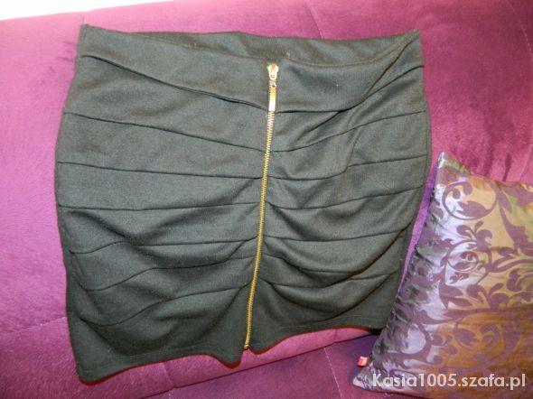 Spódnice Czarna ZIP spódnica MUST HAVE