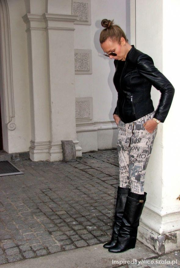 Blogerek Knee wedge boots