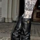 Knee wedge boots