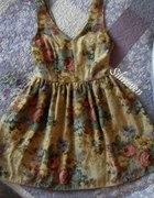 Gobelinowa sukienka vintage...