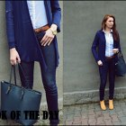 look of the day blue