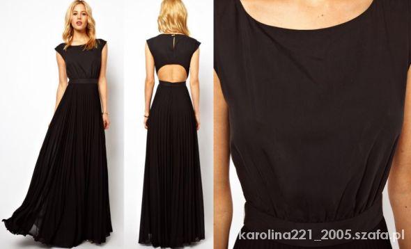 Eleganckie Czarna sukienka maxi Mango