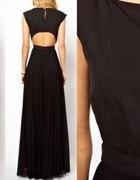 Czarna sukienka maxi Mango...