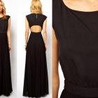 Czarna sukienka maxi Mango