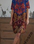 sukienka wzorzysta orientalna orient kolorowa...