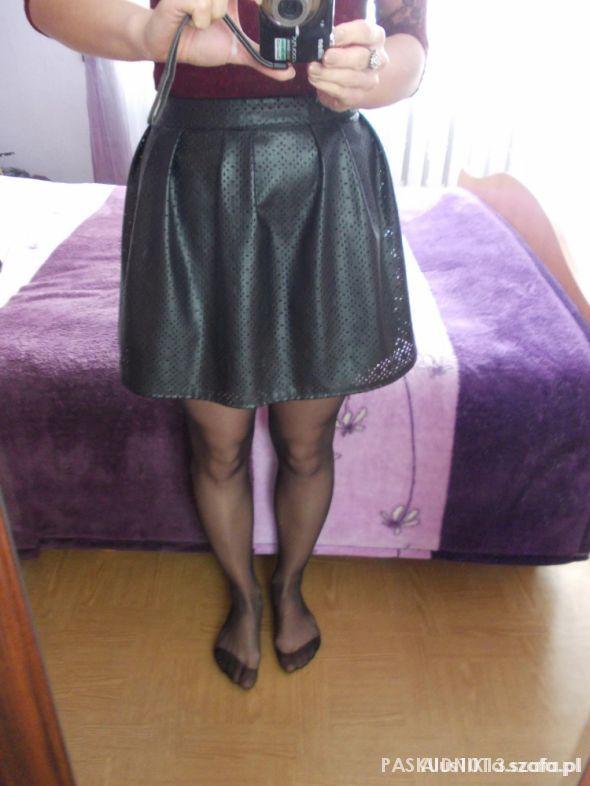 Spódnice Spódnica eko skóra ażurowa rozkoszowana r 36 HIT