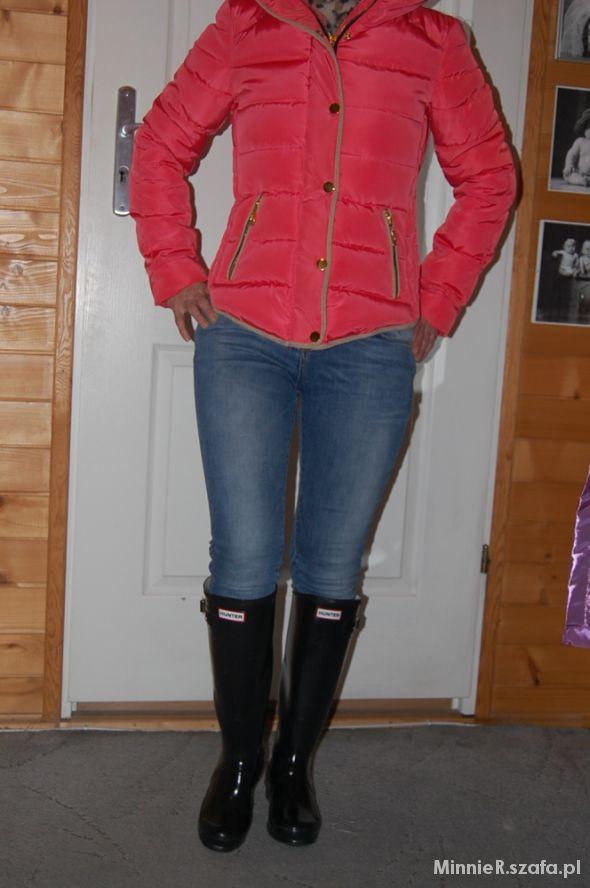 Mój styl kurtka ZARA kalosze HUNTER