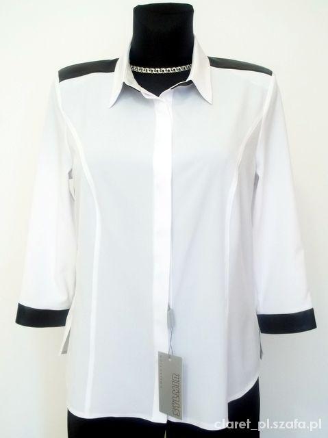 Ogromnie B10 Śliczna bluzka KOSZULOWA biała elegancka r 48 w Bluzki - Szafa.pl KO86