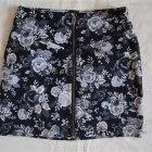 znana spódniczka kwiaty floral zip h&m M