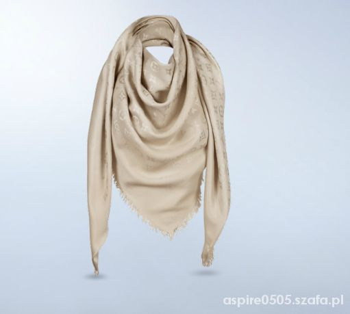 490be2a2570d4 Chusta beżowy szal Louis Vuitton kaszmir w Chusty i apaszki - Szafa.pl
