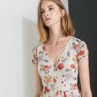 zara floral romantic dress sukienka w kwiaty