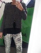 Luźny styl spodnie animal print i bluzka oversize...