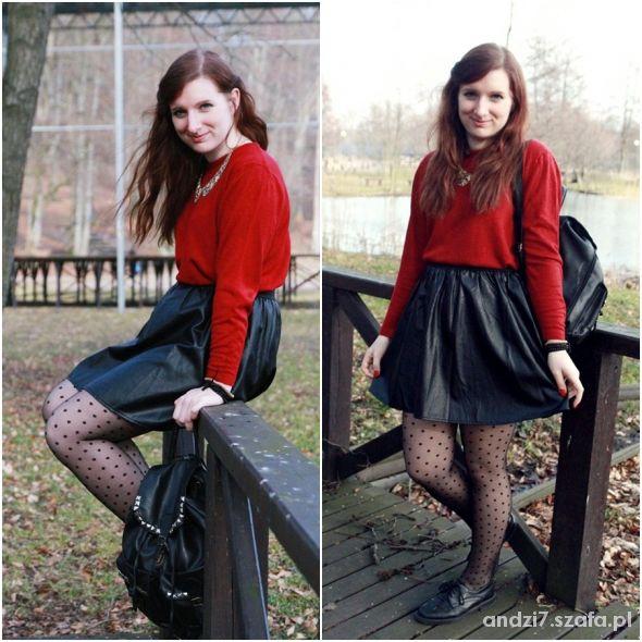 Blogerek Czerwony sweterek