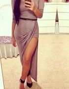 sukienka maxi nude...