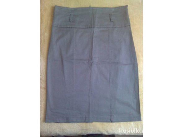 Spódnice Szara ołówkowa spódnica rozmiar 38