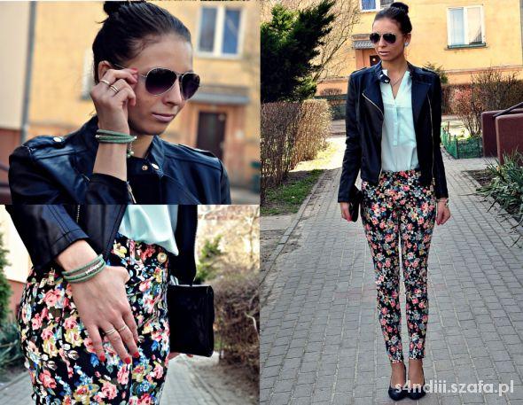 Blogerek Floral pants kwieciste spodnie