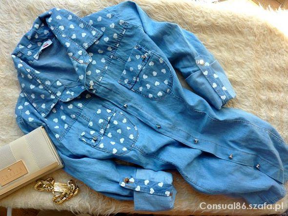 JEANS koszula w serduszka NOWA HIT