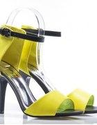 KTO CHĘTNY sandałki całe limonka yellow