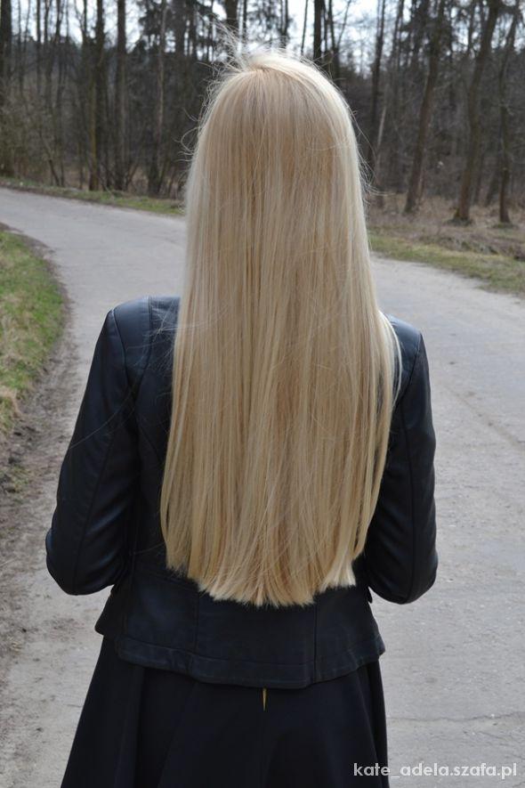 Blogerek blond włosy