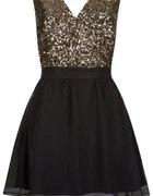 sukienka złota czarna ATMOSPHERE